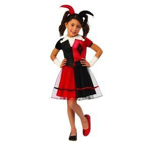 Harley Quinn DC Girl's Halloween Costume Dress New
